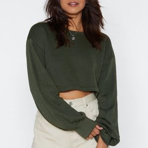 Nasty Gal Inflated Ego Cropped Sweater